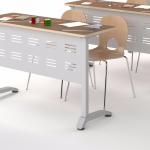 каркас учебного стола с металлическим экраном
