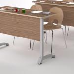 каркас учебного стола с экраном ДСП